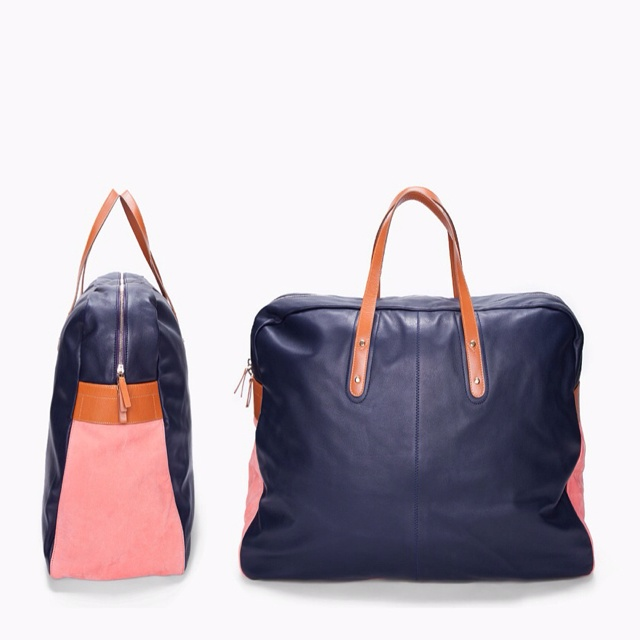 PAUL SMITH // AFXA PINK AND NAVY TRAVEL BAG