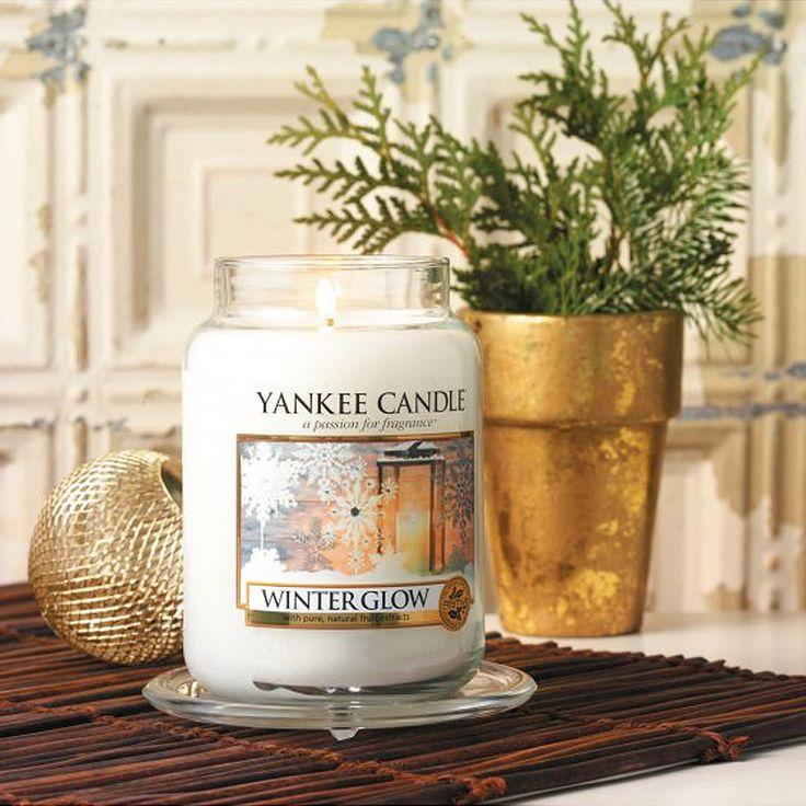 Yankee Candle - svíčka Winter Glow střední | Svět bytových vůní