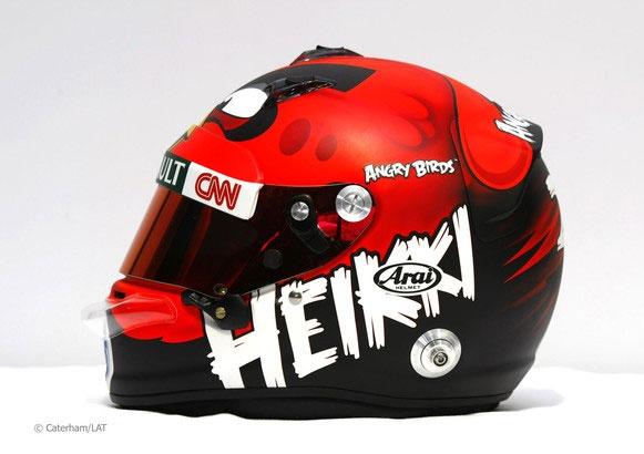 O totalmente excelente capacete de Heikki Kovalainen - F1 2012.