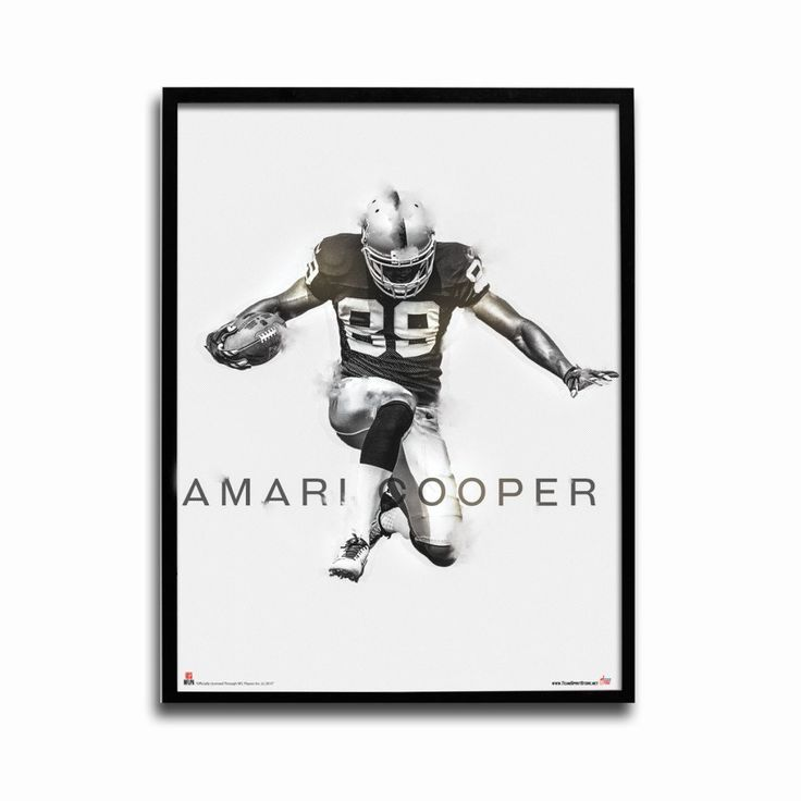 Oakland raiders amari cooper rising star 24x18 football poster