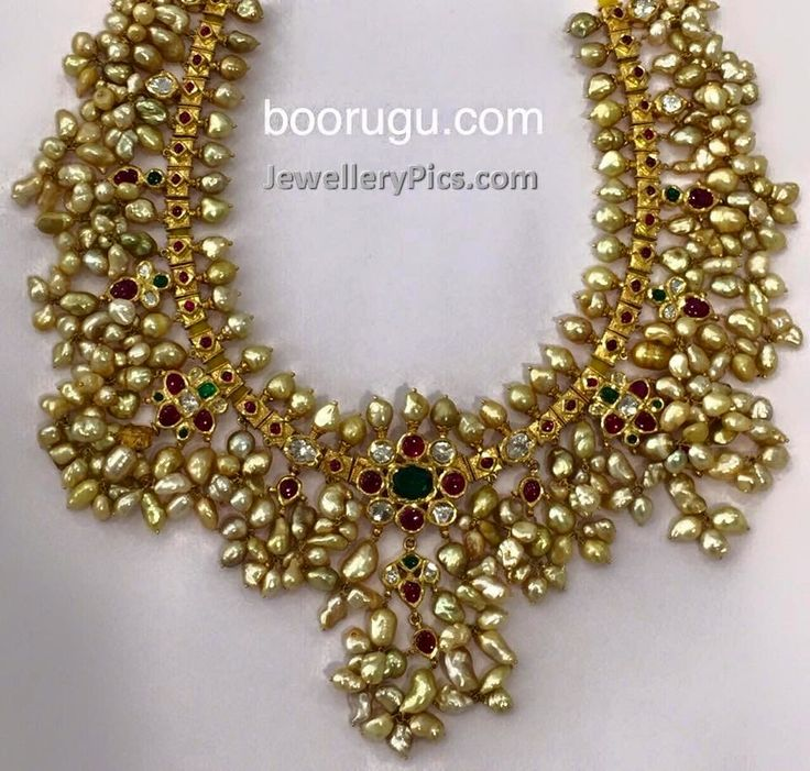 Gottapusalu haram with clusters of pearls - Latest Jewellery Designs