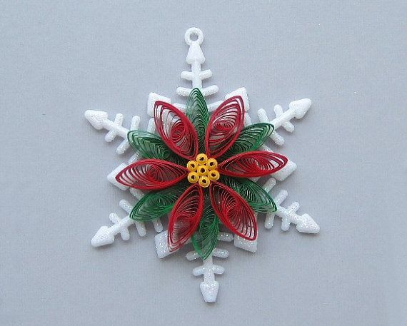 Quilled Christmas Ornament Snowflake with by ... | quilling projects