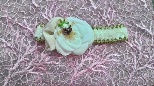 Baby headband with sequin detail