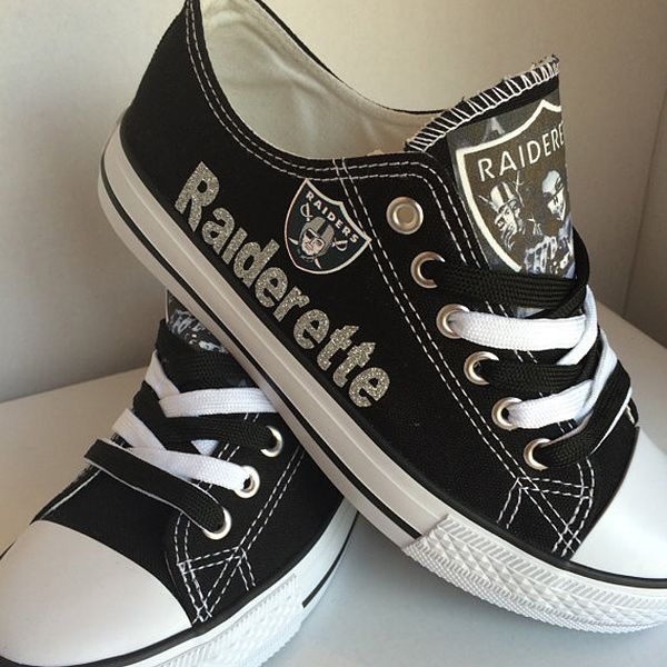 Oakland Raiders Converse Shoes - http://cutesportsfan.com/oakland-raiders-designed-sneakers/
