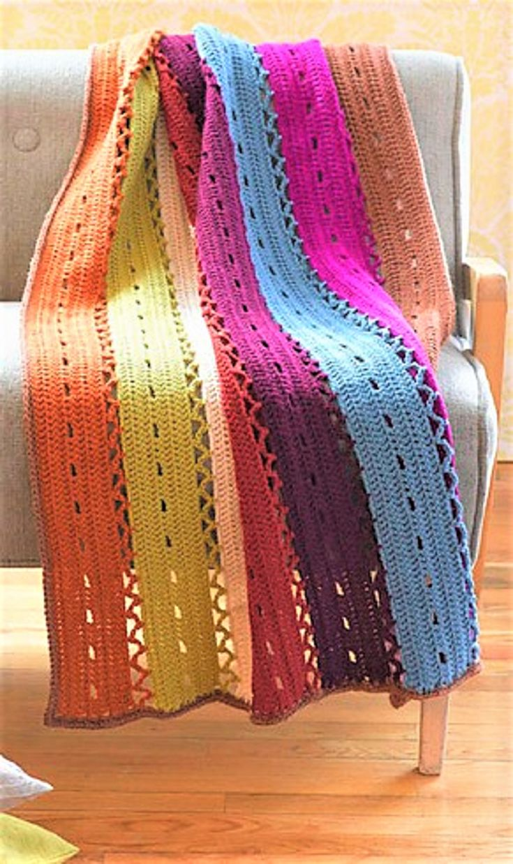 Light and Lacy Throws! 12 Free Crochet Patterns...