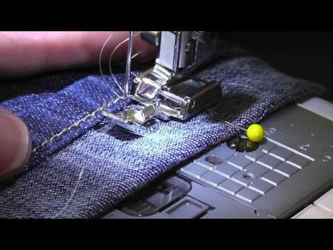 AMAZING QUICK & EASY way to HEM JEANS keeping the ORIGINAL HEM LINE - YouTube