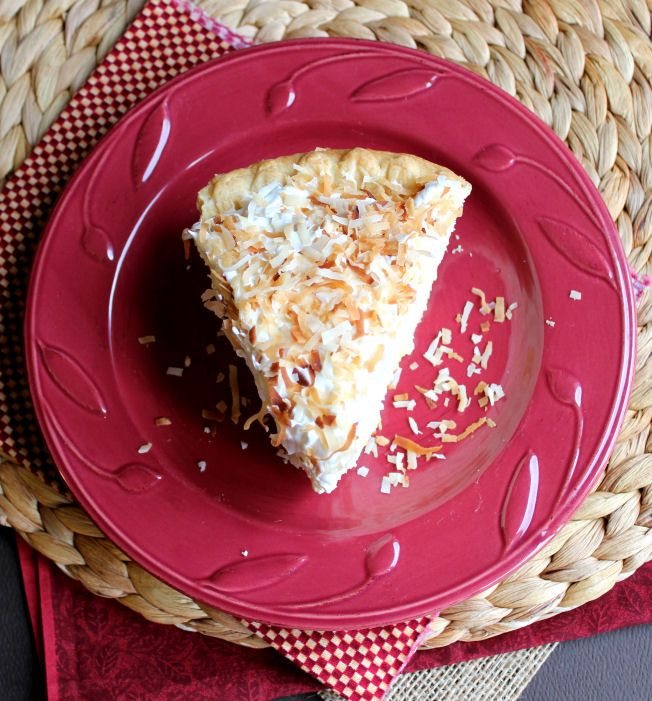 Easy Coconut Cream Pie from Jamie Cooks It Up! Just use gluten
