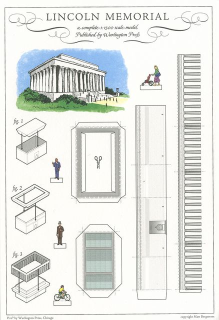 Lincoln Memorial, Washington, DC - Cut Out Postcard by Shook Photos, via Flickr