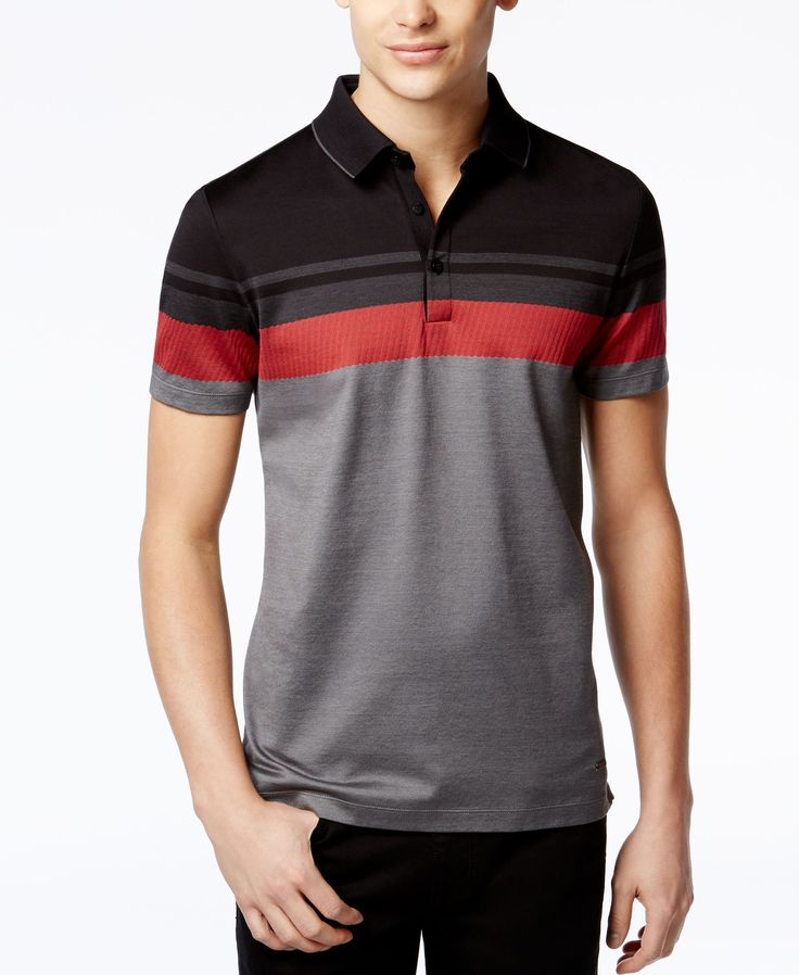 Calvin Klein Premium Colorblocked Polo
