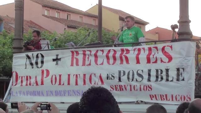 """""""Ya conocen las noticias, ahora les contaremos la verdad""""    El Gran Wyoming, Alcalá de Henares 22/06/2012"""