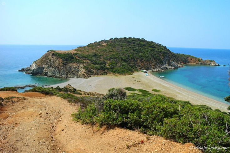 Lemos, the southernmost place of Sithonia. It is a tiny isthmus with two beaches and difficult access.