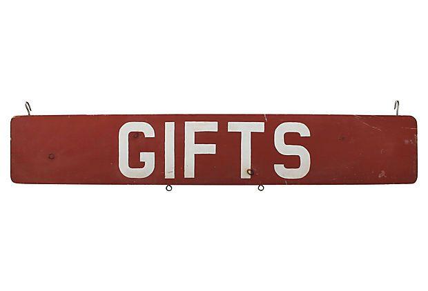 Red Gifts Sign on OneKingsLane.com