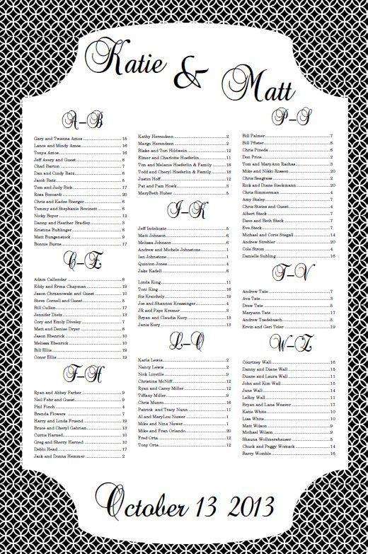 30 best Seating Chart images on Pinterest Receptions, Wedding - seating chart