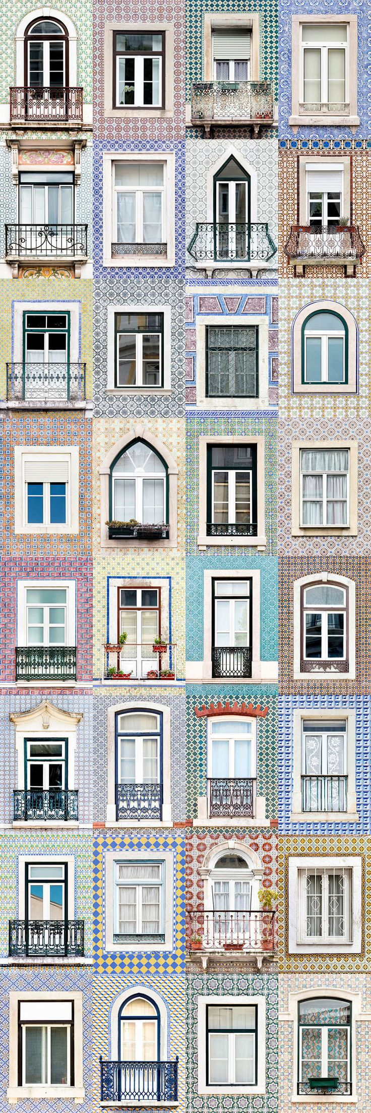 I Traveled All Over #Portugal To Photograph Windows, And Captured More Than 3200 Of Them - via BoredPanda 23-10-2017 | If you are planning a trip to Portugal, you can see which are the most beautiful cities to visit or what kind of architecture you like the most. Photo: Lisbon