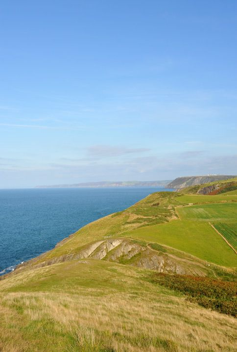 View north from Mwnt on Cardigan Bay.