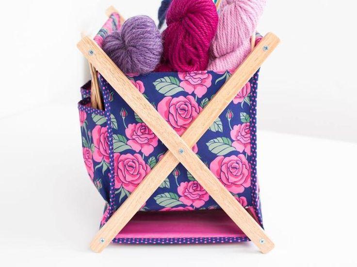 23 best Mid Century Folding Knitting Basket images on Pinterest