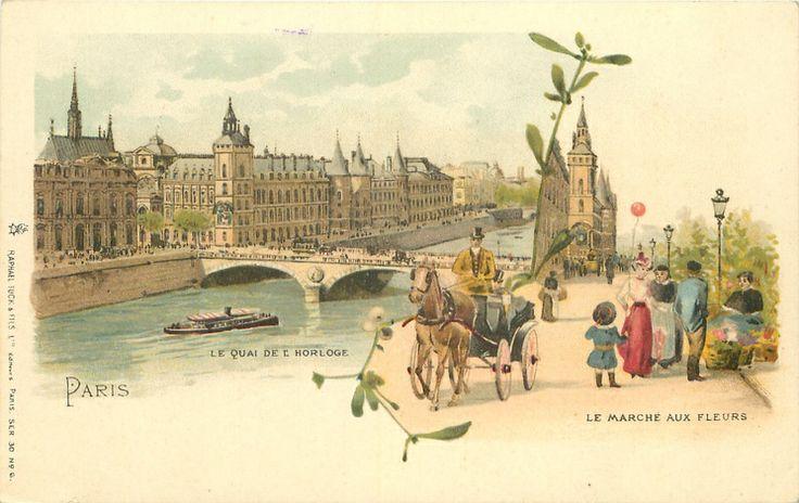 Старый париж на почтовых открытках