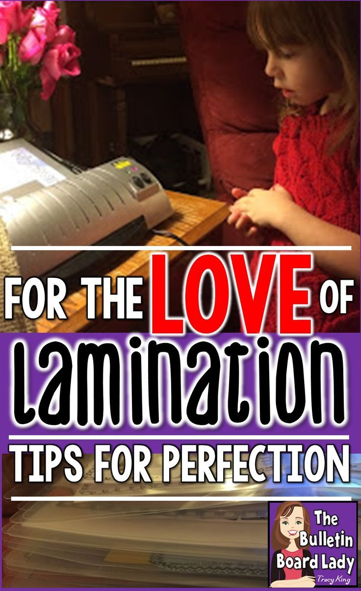 I love lamination.  I often wish for human relationships that are as satisfying as the one I have with my laminator!  This article is packed full of ideas for laminating everything you need for your classroom.  Tips for solving laminating problems and an EASY DIY way to laminate WITHOUT a laminator!