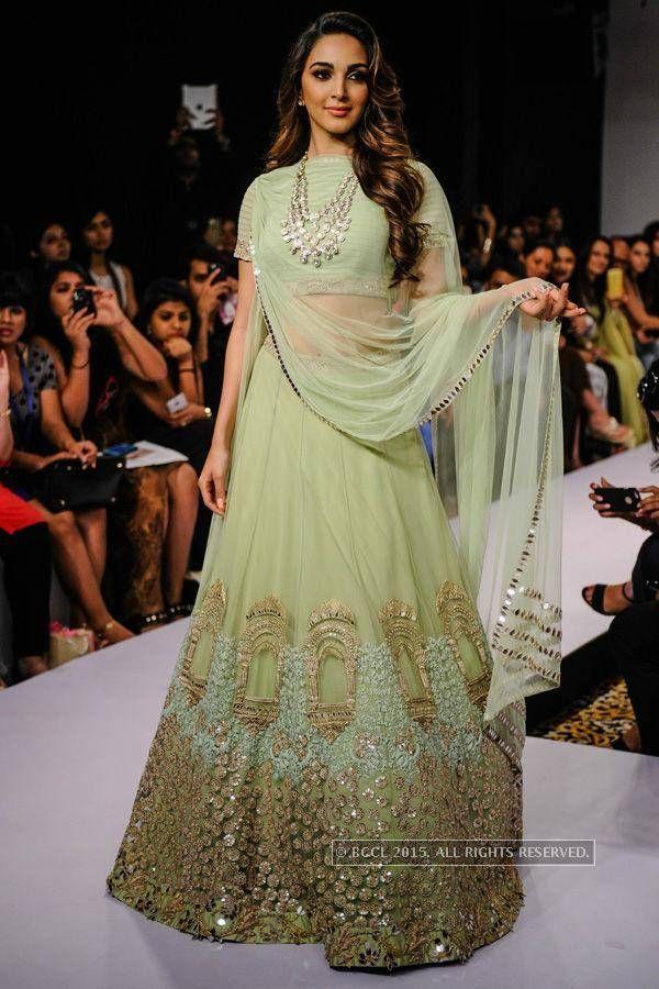 Kiara Advani showcases a creation by Ridhi Mehra during the Day 6 of the Lakme Fashion Week (LFW) Summer Resort 2015, held in Mumbai. (BCCL/Tejas Kudtarkar) (BCCL)See more of : Kiara Advani