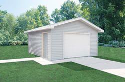 16'W x 24'L x 8'H Garage Post Frame Building