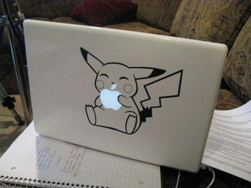 apple: Pokemon, Stuff, Macbook Decal, Catch On, Pikachu, Apples, Things