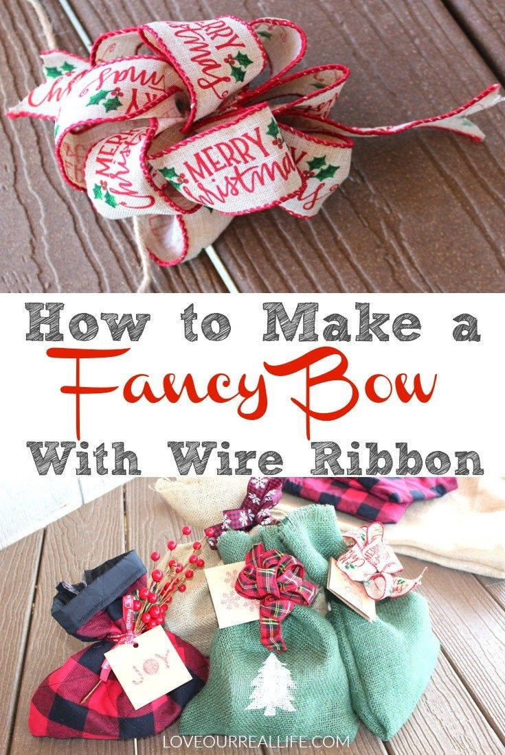 Step by step tutorial on how to make a fancy bow with wire ribbon!