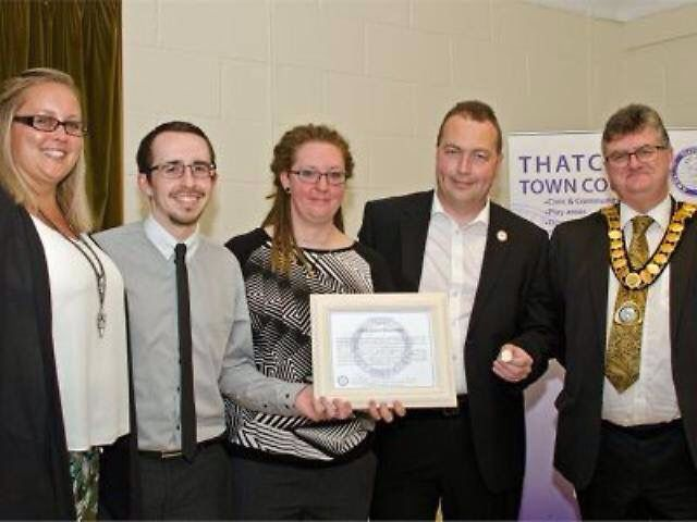 Heartstart Thatcham awarded a Gold Civic Award by Thatcham Town Council