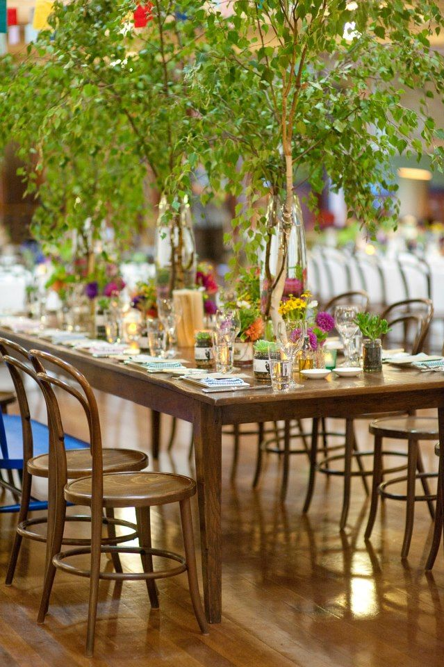 Fun idea For bridal table - if you sit on the middle long table