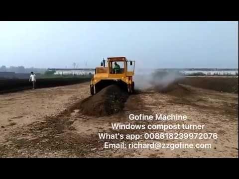 window compost turner machine, composting equipment