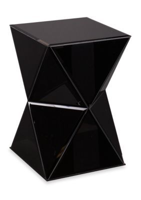 Southern Enterprises Justine Mirrored Accent Table - Black - 26 In.