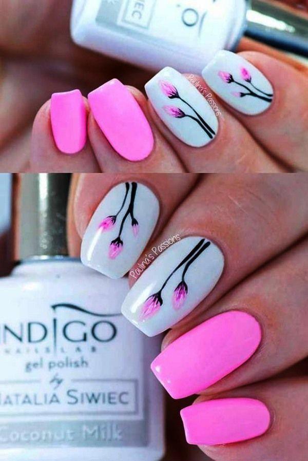 Easy Diy Summer Nails Simple Easysummernailsdesignsdiy Pink Nail Designs Indigo Nails Pink Nails