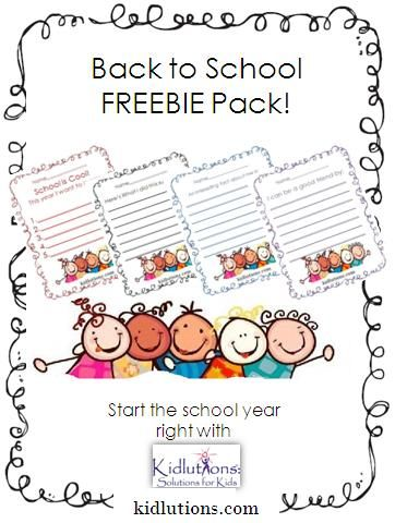 Back to School Freebie Pack from Kidlutions! Use in the #classroom, #schoolcounseling and MORE!