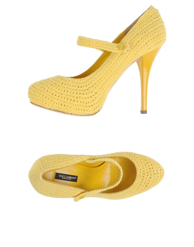Dolce & Gabbana Yellow Pump.