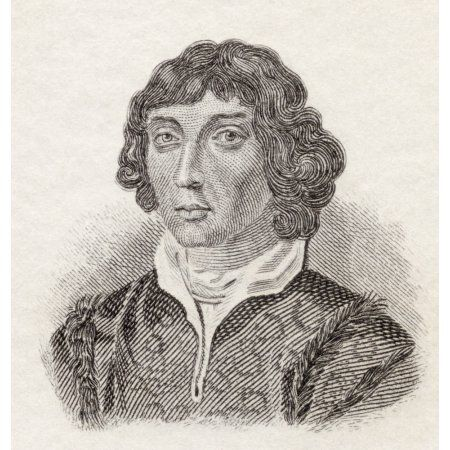 Nicolaus Copernicus 1473 To 1543 Polish Renaissance Astronomer And Priest From Crabbs Historical Dictionary Published 1825 Canvas Art - Ken Welsh Design Pics (14 x 15)