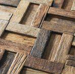 Natural wood mosaic tile NWMT029 kitchen tile backsplash mosaic 3D wood pattern mosaic wall tiles strip tile mosaic