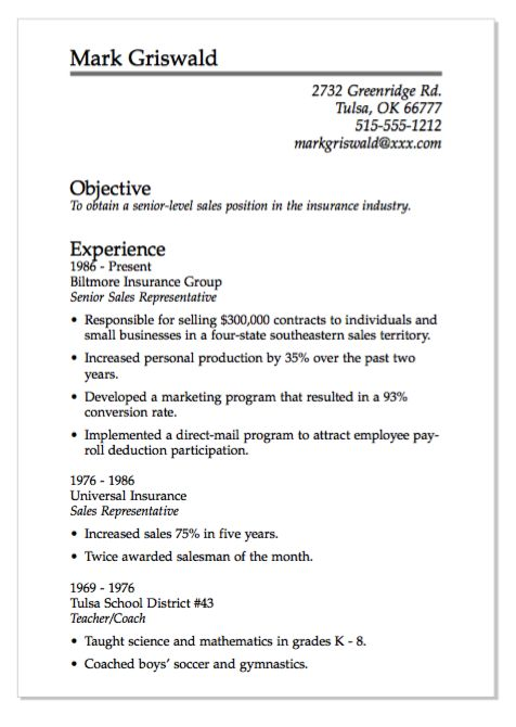 Direct Sales Resume Templatebillybullock  - direct sales resume