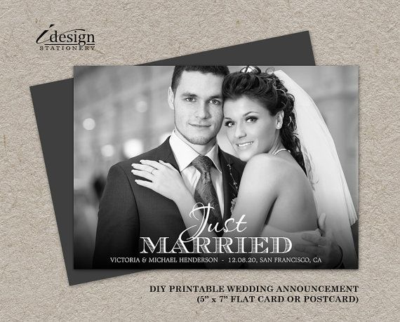 12 best Wedding Announcements images on Pinterest