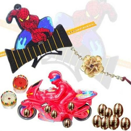 """Shop Kids Rakhi Hampers online in India at lowest price and cash on delivery. Best offers on Kids Rakhi Hampers and discounts on Kids Rakhi Hampers at Rediff Shopping. Buy Kids Rakhi Hampers online  from India's leading online shopping portal - Rediff Shopping. Compare Kids #Rakhi Hampers features and specifications. Buy #Kids Rakhi #Hampers online at best price."