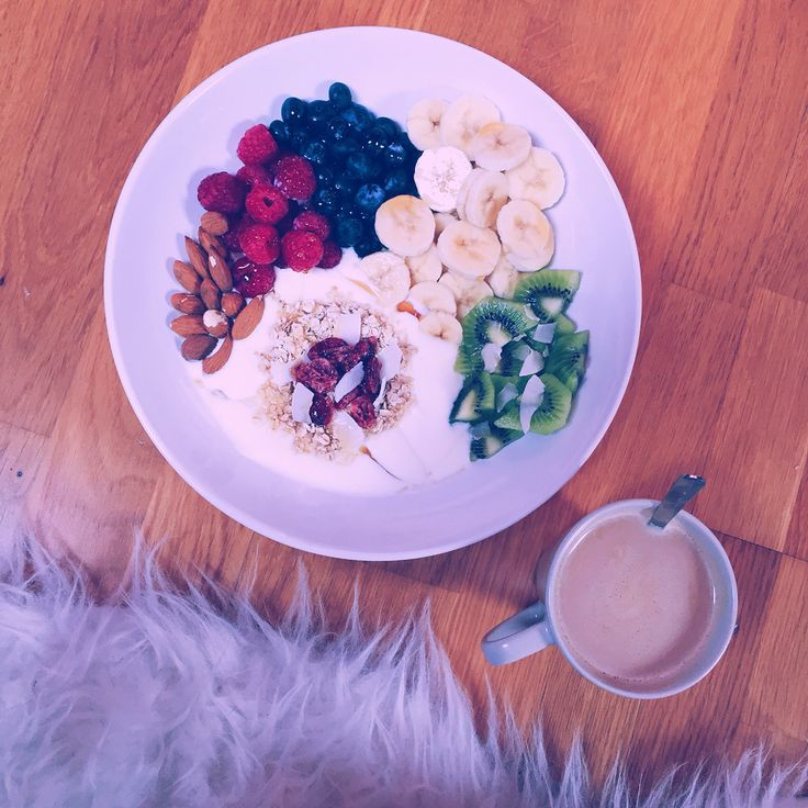 Healthy breakfast and a cup of coffee