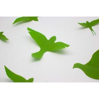 3D Zöld madarak csomag : 3D matricák - KaticaMatrica.hu - A minőségi falmatrica és faltetoválás webáruház