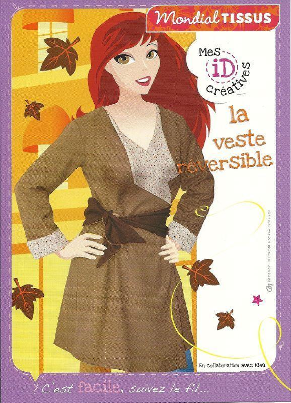 Voici le modèle d'une veste reversible printinière , avec un tutoriel pour la réaliser ... Et voici les explications pour réaliser cette jolie veste... Bonne couture et un petit commentaire fera toujours plaisir...