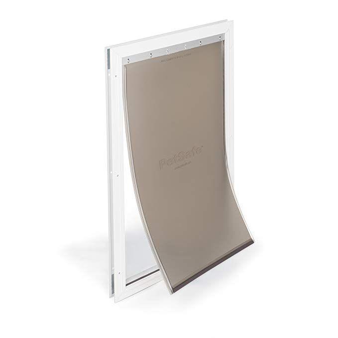 Amazon Com Petsafe Freedom Aluminum Pet Door For Dogs Extra Large White Tinted Vinyl Flap Pet Supplies Dog Door Cat Door Pet Door
