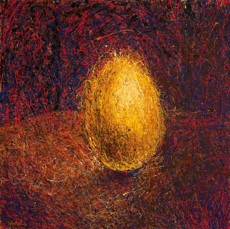 golden egg. artwork by gerasimos galiatsatos