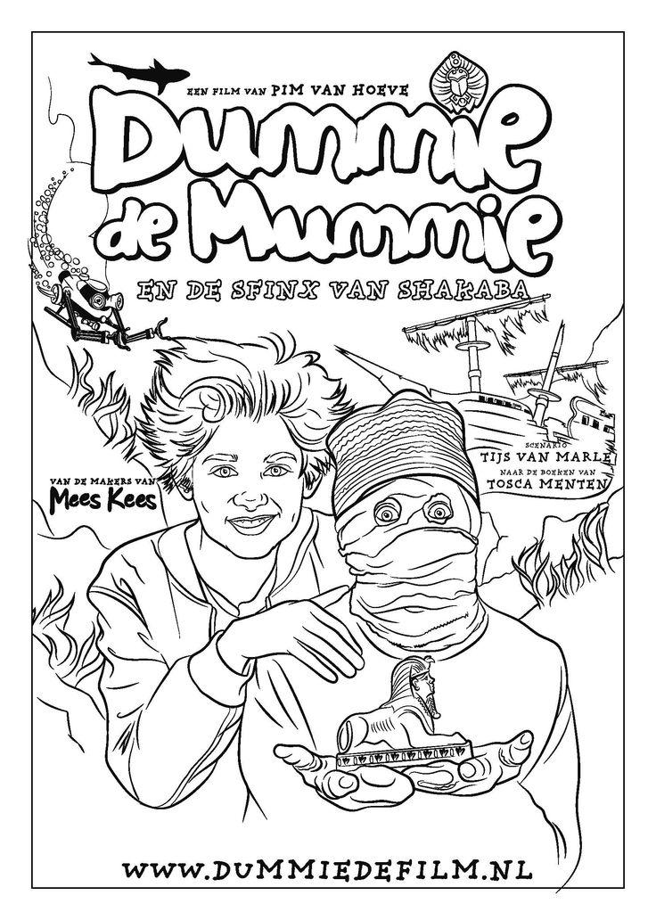 De nieuwe Dummie de Mummie film komt eraan!  In deze film besluit Dummie dat hij beroemd wilt worden, door de schilderwedstrijd van de krant te winnen! Een portret van juffrouw Friek lukt vast. ~ Dummie de Mummie krijgt een nieuwe museumles. Meer weten? Meld je aan voor de VIP opening voor docenten bij het Rijksmuseum van Oudheden! Klik op de afbeelding!