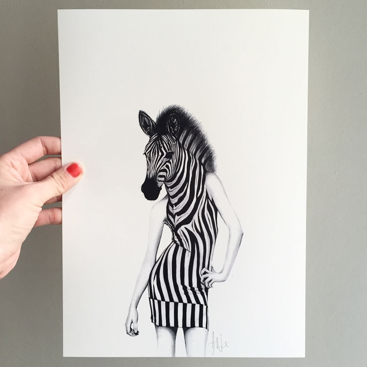 Party animal   Hand drawn illustration made by Sanna Wieslander.  Available as signed art prints and posters in several different sizes at www.sannawieslander.com