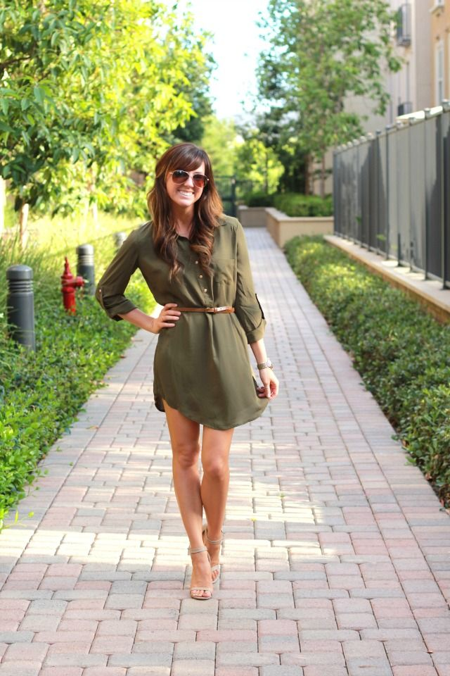 Glitter and Grace: The Olive Shirt Dress