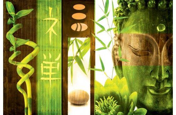 BUDDHA VERT - Tableaux déco - SCENOLIA, votre décoration en grand