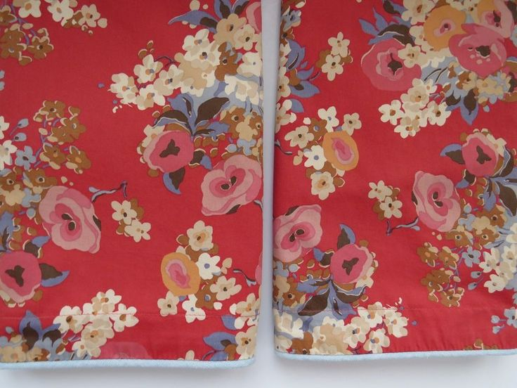 TWO Ralph Lauren KING Pillow Shams - Madeline Floral Red Country Cottage Chic  #RalphLauren #Cottage