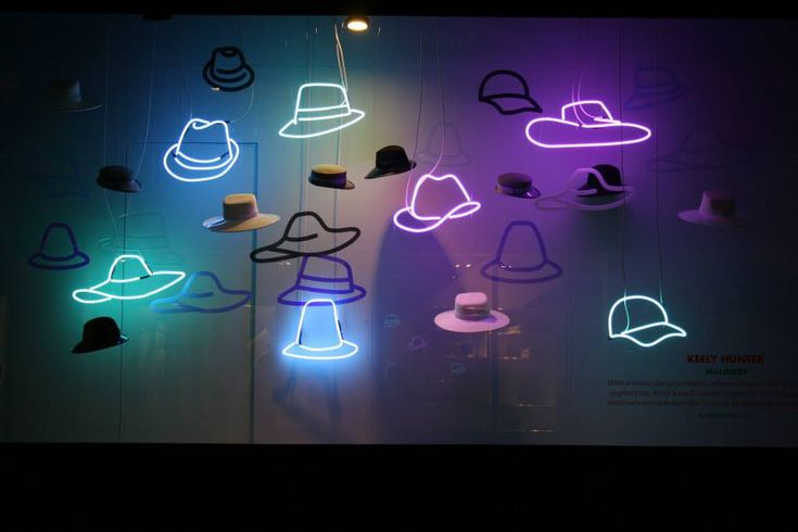 NEON 'HATS' SIGN                                                                                                                        ๑෴MustBaSign෴๑