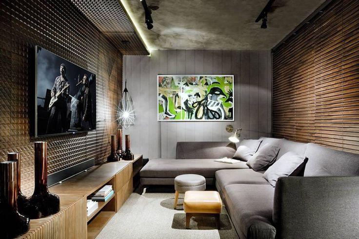 Conheça nossa seleção com 75 fotos de sofás com chaise em salas de estar variadas. Inspire-se com essas ideias.